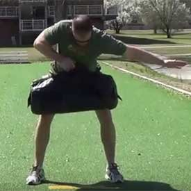 Single-Arm Sandbag Row