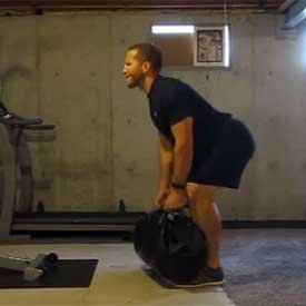 Sandbag hang clean