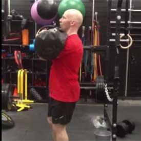 Sandbag reverse lunge, front-racked position