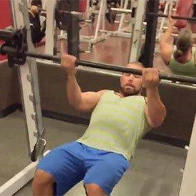 Smith machine bodyweight ladder curl