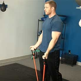 Standing Band Curl