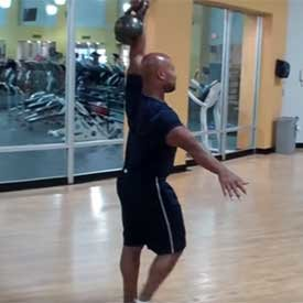 Kettlebell waiter walk