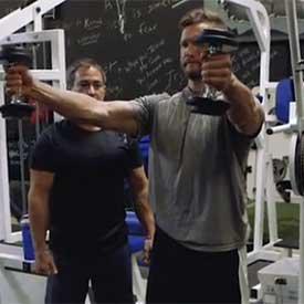 45-degree dumbbell shoulder raise