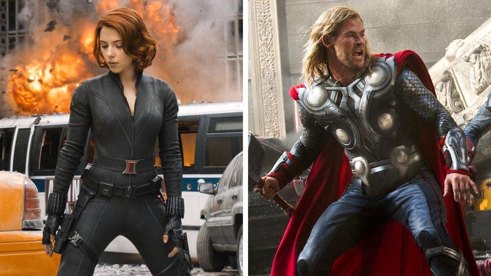 Avengers Interview Chris Hemsworth And Scarlett Johansson