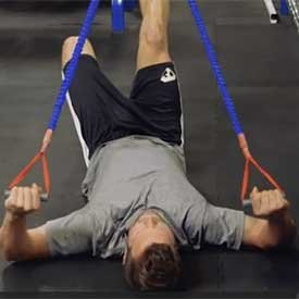 Supine band external rotation