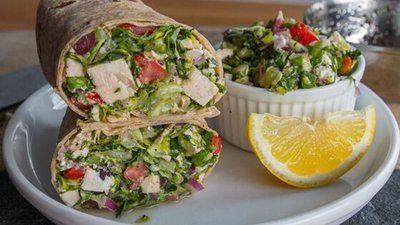 3 Healthy Chopped Salad Wraps!