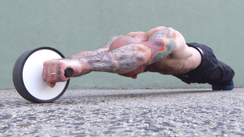 Sculpt Your Six-Pack With Ab-Wheel Roll-Outs