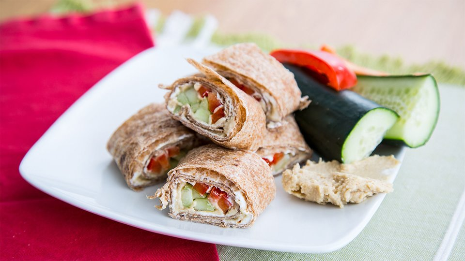 Vegetarian Hummus Wrap