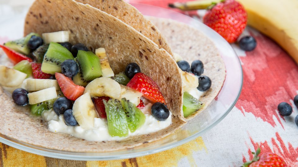 Fruit Salad Cottage Cheese Breakfast Tacos