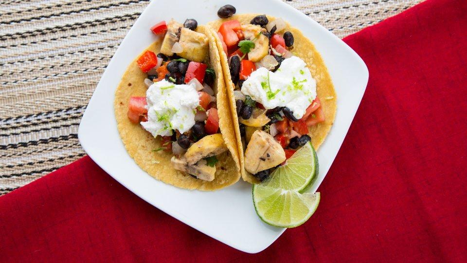 Cocoa Bean Veggie Tacos