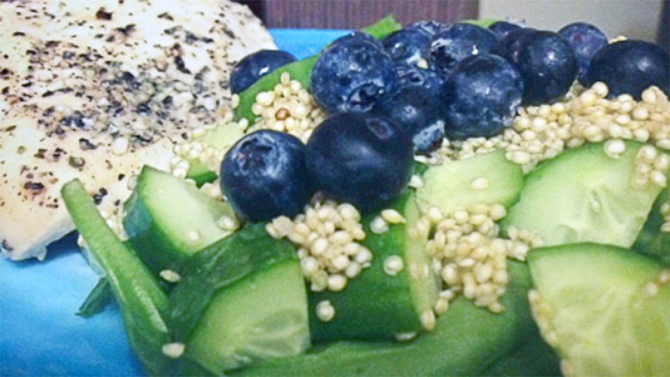 Blueberry And Cucumber Quinoa Salad