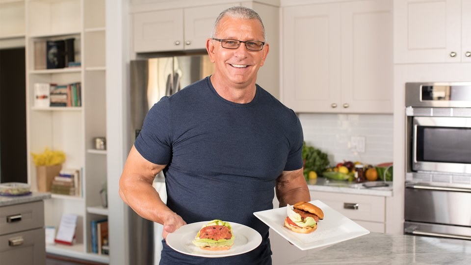 Chef Robert Irvine Vegetarian Burger