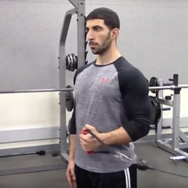 Cable or resistance-band internal/external rotation