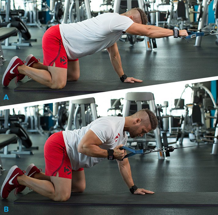 Prone Single-Arm Lat Pull
