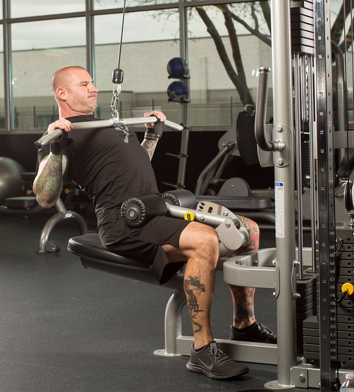 Using 50 percent of your estimated 3-6 rep max, do anywhere from 5-7 reps, stopping well short of failure.