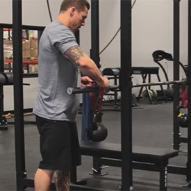 Band-Suspended Kettlebell Bench Press