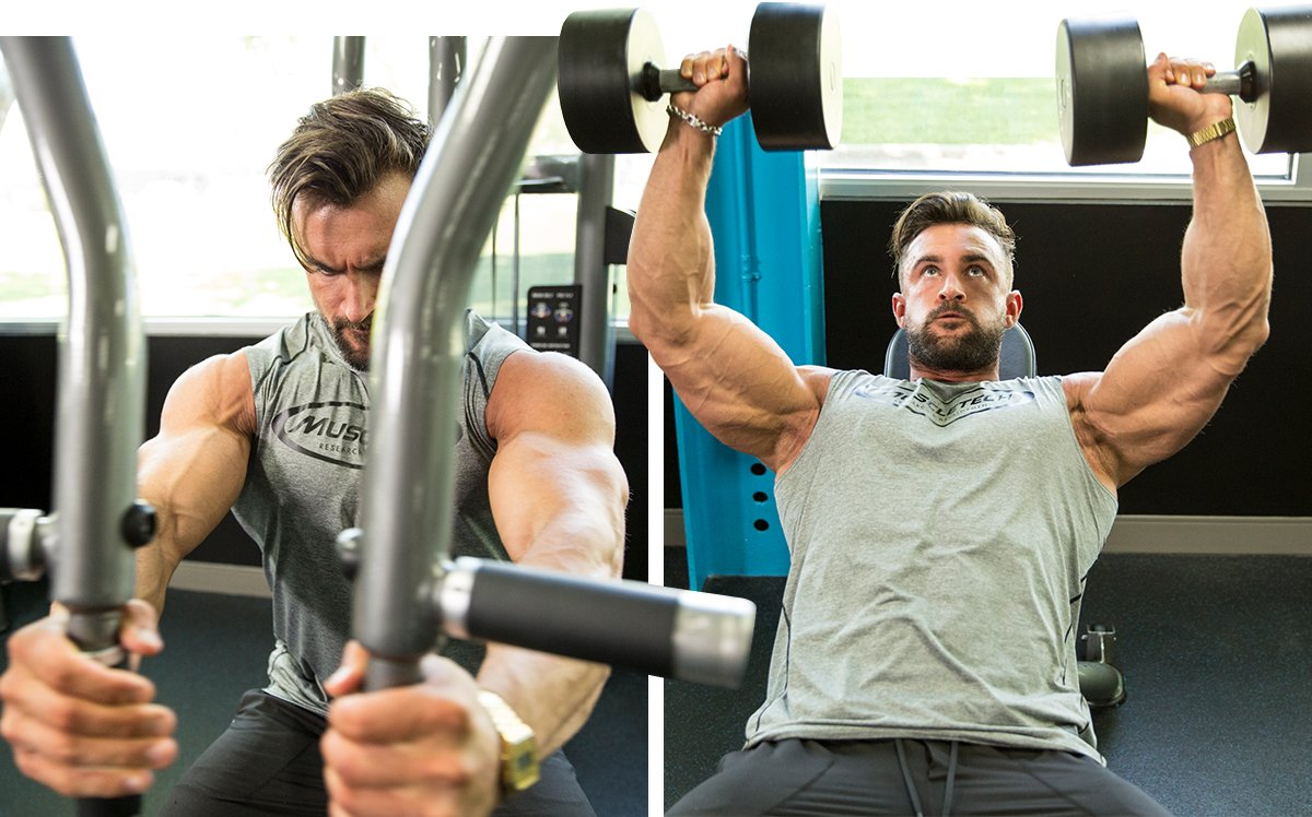 Machine Fly and Dumbbell Incline Press