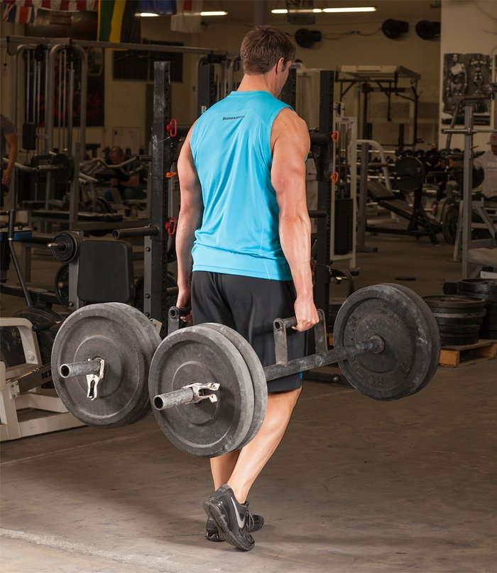 If you've never tried it, take a farmer's walk with a pair of heavy dumbbells.