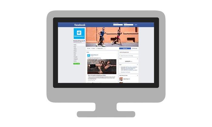 Facebook page of Bodybuilding.com