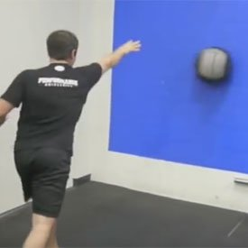 Medicine-ball rotary punch throw