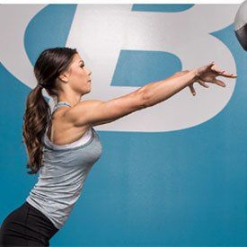 Medicine ball squat-push-throw