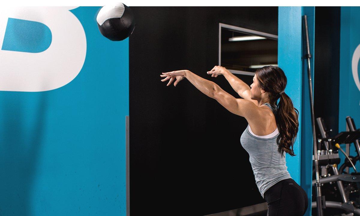 Medicine-Ball Soccer Throw with Alternate Leg Step
