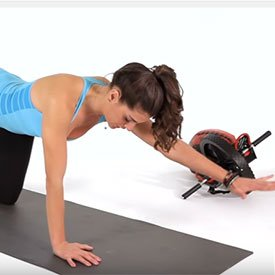 Alternating arm and leg raise from plank