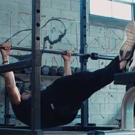 Feet-elevated inverted row