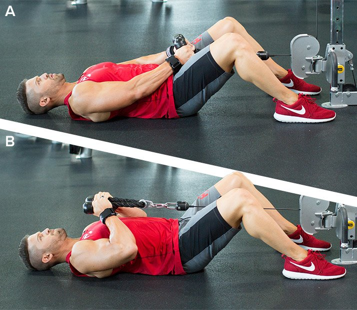 Lying Rope Hammer Curl