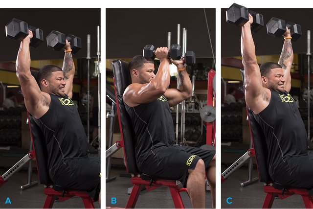 Dumbbell shoulder press 21s