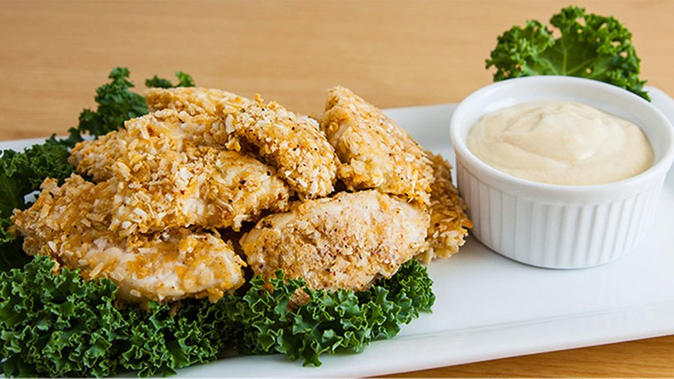 Crispy Chicken With Sweet Mustard Dip