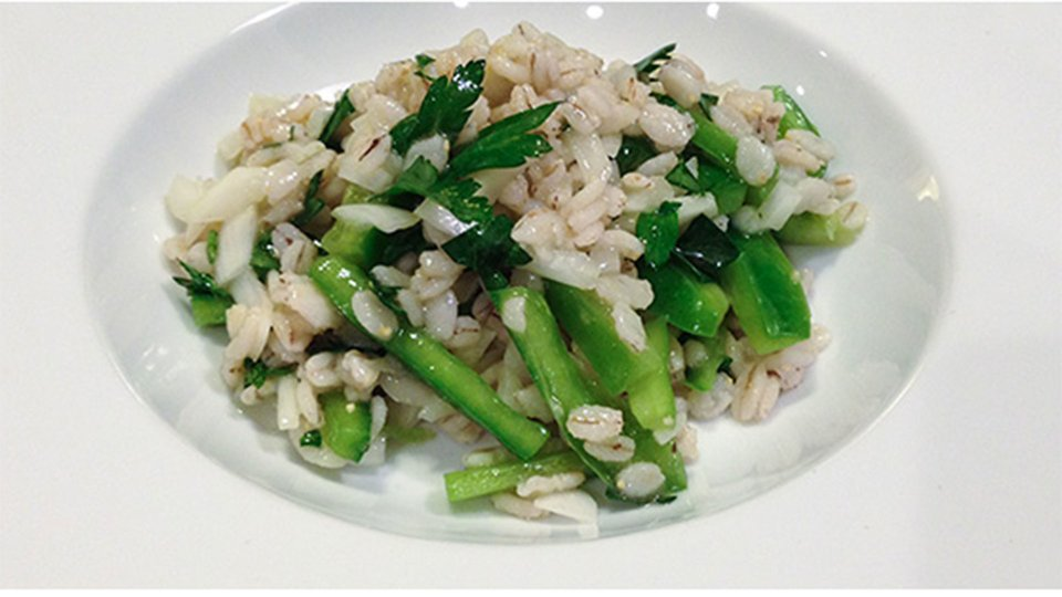 Green Pepper Barley Salad