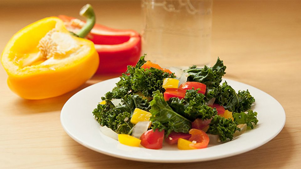 Kale And Peppers