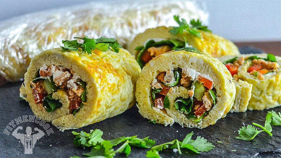 Breakfast Omelet Roll-Ups