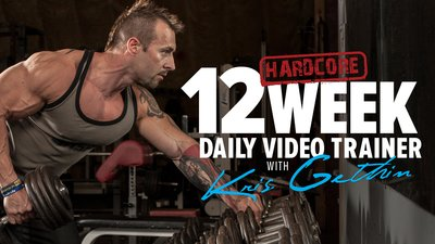 12-Week Hardcore Daily Trainer With Kris Gethin! mobile header image
