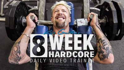 Kris Gethin's 8-Week Hardcore Video Trainer mobile header image