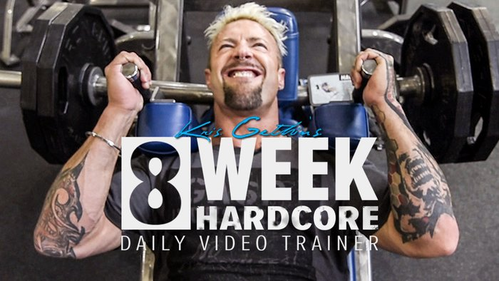 8-week Hardcore Daily Video Trainer