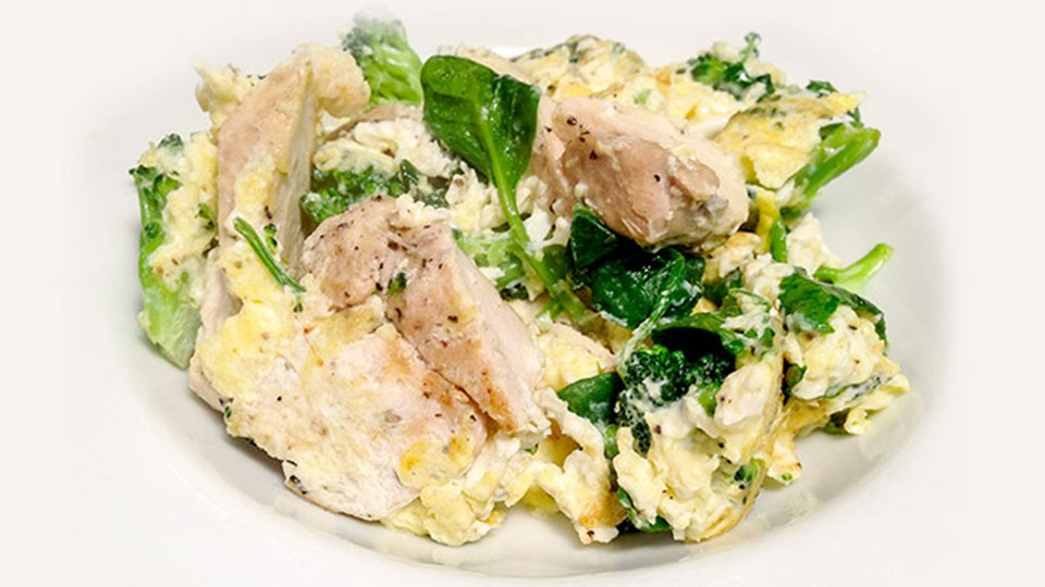 Jim Stoppani's Shortcut To Shred Recipes: Green Eggs And Chicken