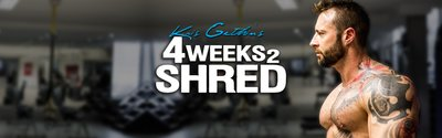 Kris Gethin's 4Weeks2Shred wide header image