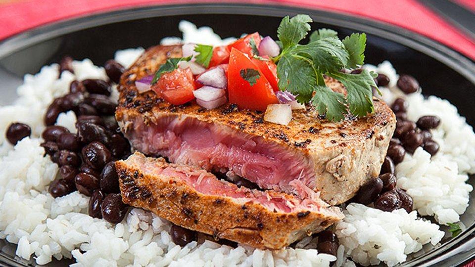 Cajun Tuna With Black Beans