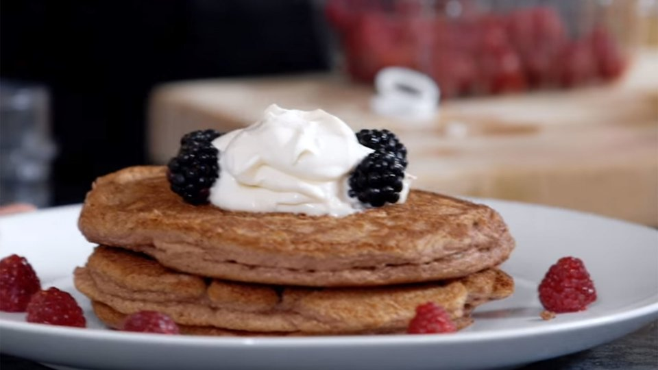 Protein Pancakes With Protein Whipped-Cream Topping