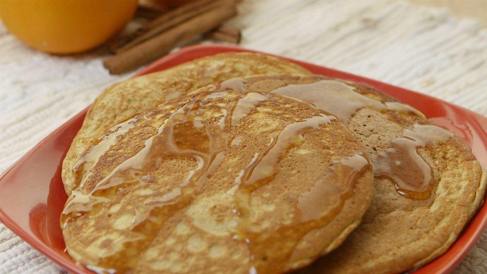 Pumpkin Spice Protein Pancakes
