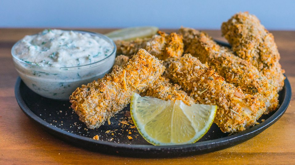 Crispy Parmesan Fish Sticks
