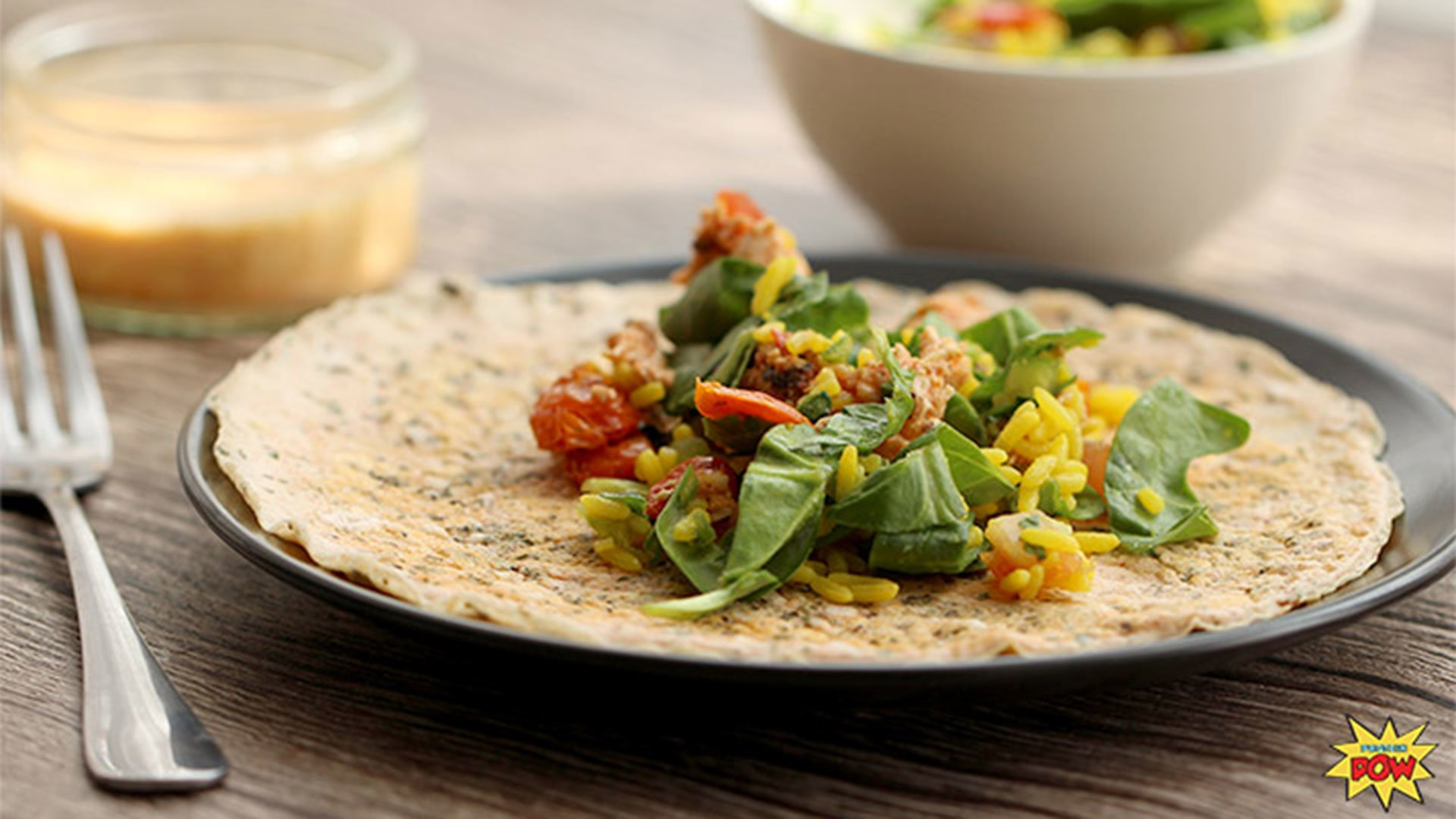 Gluten-Free Savory Whey Protein Crepes