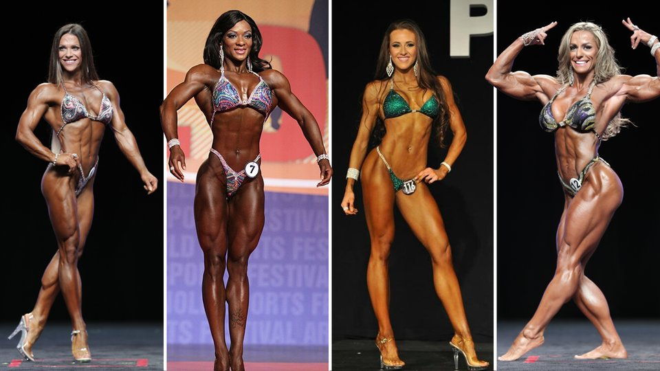 Pro female bodybuilder poses and shows off her physique - 5 1