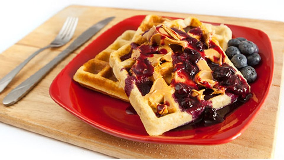 Gluten-Free PB&J Waffles