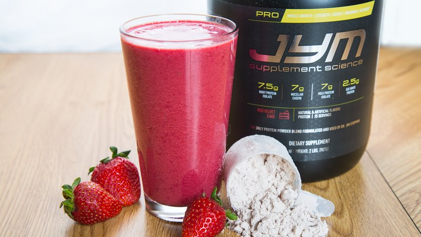 """Red Boost"" Pro JYM Protein Shake"