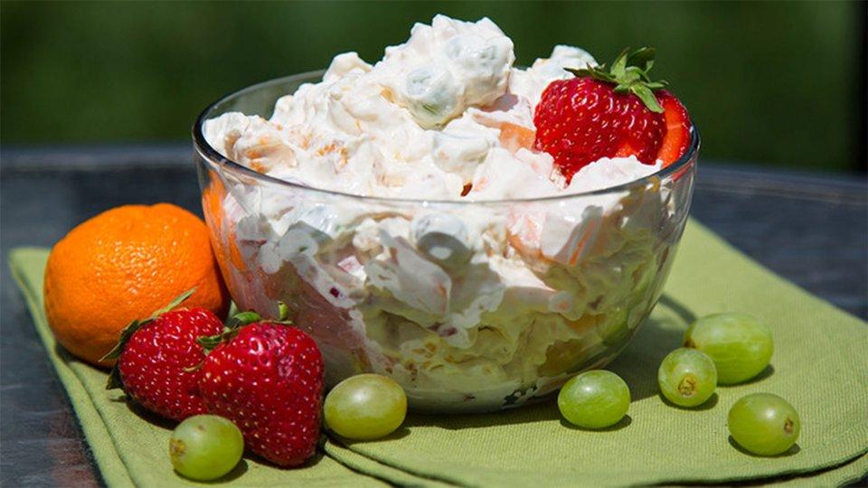 White Chocolate Fluff Fruit Salad