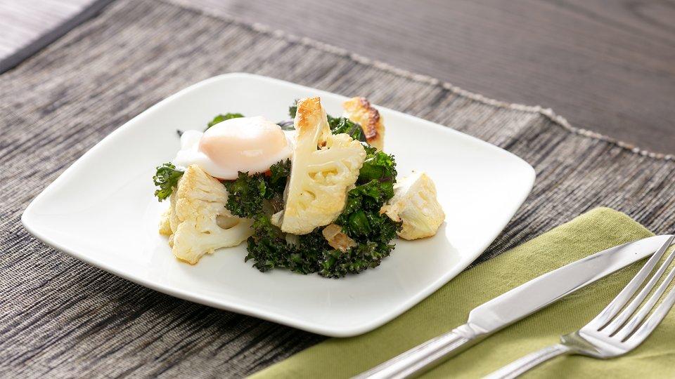 Cauliflower Hash With Eggs