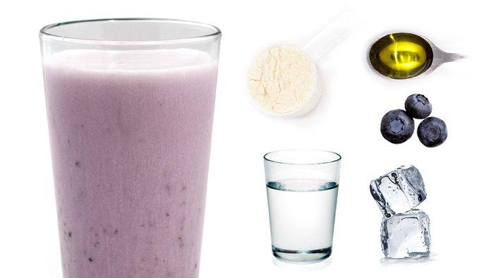 blueberry dream protein shake